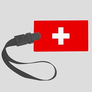 Flag of Switzerland Large Luggage Tag