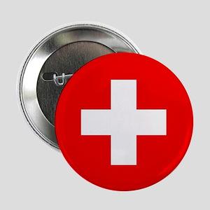 """Flag of Switzerland 2.25"""" Button"""