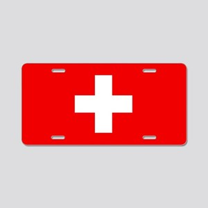 Flag of Switzerland Aluminum License Plate