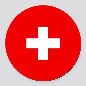Flag of Switzerland Round Car Magnet