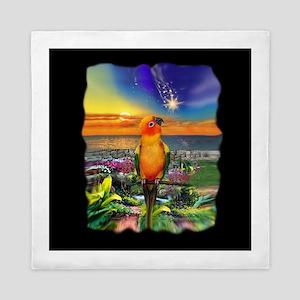 Sun Conure Parrot Art Queen Duvet