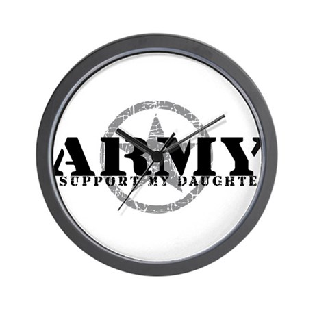 Army - I Support My Daughter Wall Clock