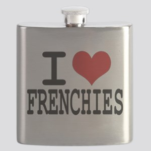 I love Frenchies Flask