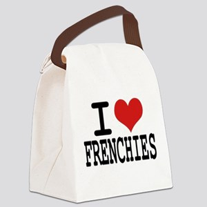 I love Frenchies Canvas Lunch Bag