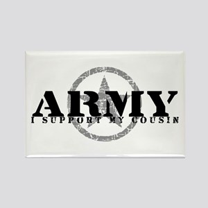 Army - I Support My Cousin Rectangle Magnet