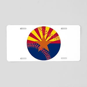 Arizona Flag Baseball Aluminum License Plate