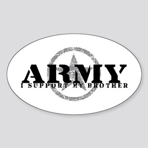 Army - I Support My Brother Oval Sticker