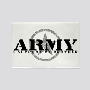 Army - I Support My Brother Rectangle Magnet