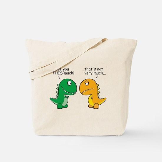 Cute T rex love Tote Bag