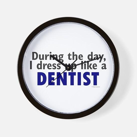 Dress Up Like A Dentist Wall Clock
