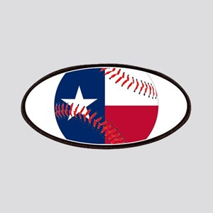 Texas Flag Baseball Patch