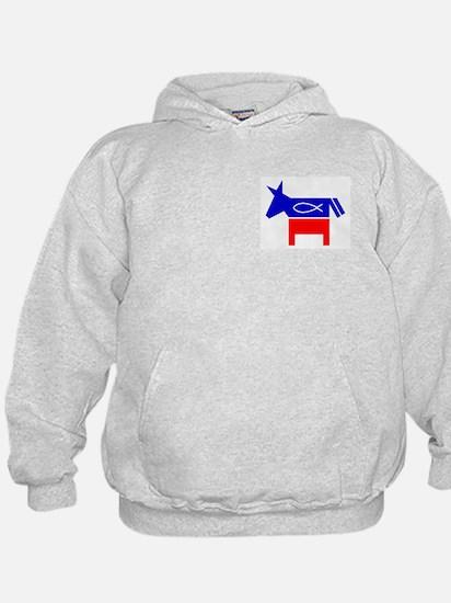 Christian Fish Democratic Donkey Hoodie