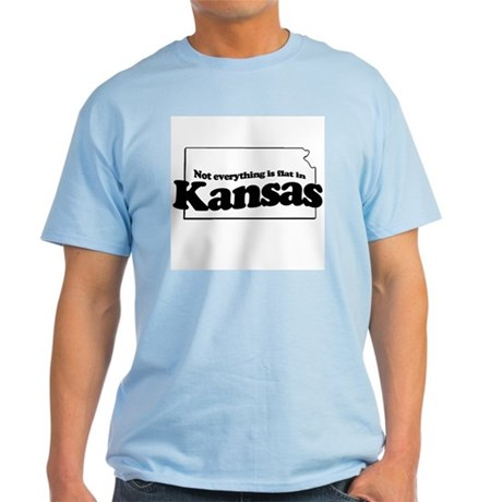 Not everything is flat in Kansas Light T-Shirt