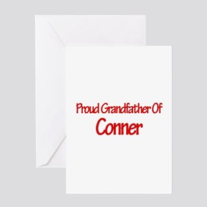 Proud Grandfather of Conner Greeting Card