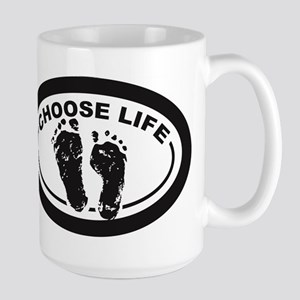 Choose Life Oval Mugs