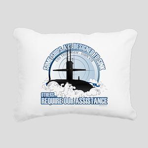 USS Tecumseh-SSBN 628 Rectangular Canvas Pillow