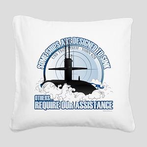 USS Tecumseh-SSBN 628 Square Canvas Pillow