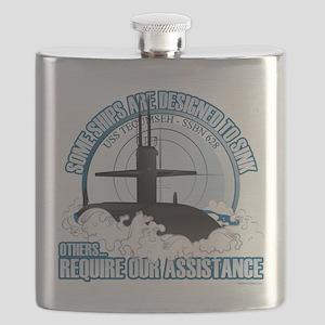 USS Tecumseh-SSBN 628 Flask