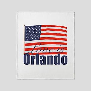 Love is Orlando Throw Blanket