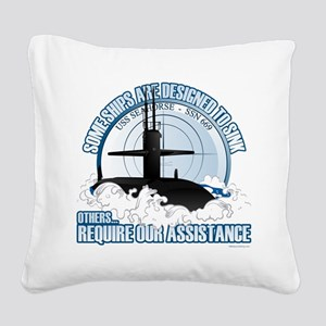 USS Seahorse - SSN 669 Square Canvas Pillow