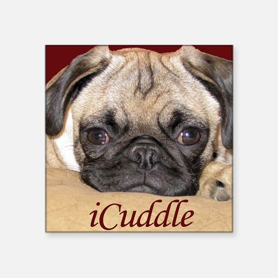 Adorable iCuddle Pug Puppy Sticker