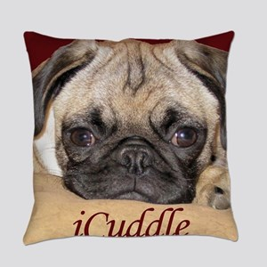 Adorable iCuddle Pug Puppy Everyday Pillow