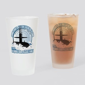 USS Sam Houston SSBN 609 Drinking Glass