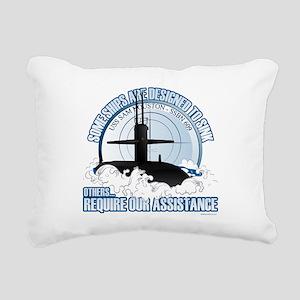 USS Sam Houston SSBN 609 Rectangular Canvas Pillow