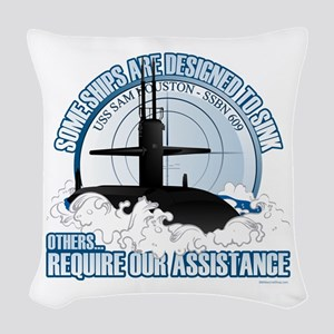 USS Sam Houston SSBN 609 Woven Throw Pillow