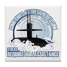 USS Sam Houston SSBN 609 Tile Coaster