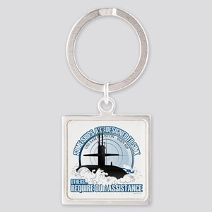 USS Sam Houston SSBN 609 Square Keychain
