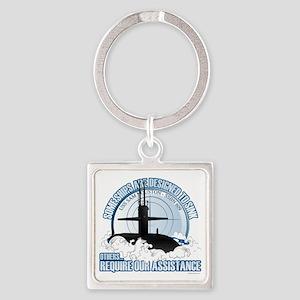 USS Sam Houston SSBN 609 Square Keychain