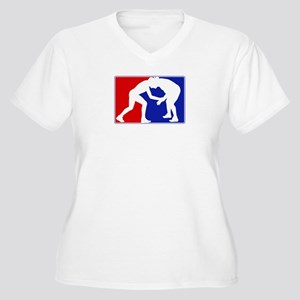 Major League Wrestling Women's Plus Size V-Neck T-