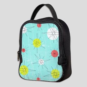 Atomic Era Art Neoprene Lunch Bag