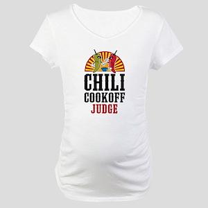 Chili Cookoff Judge Maternity T-Shirt