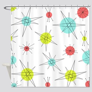 Atomic Era Art Shower Curtain