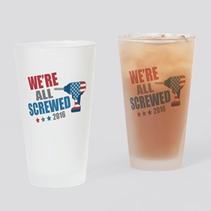 Screwed 2016 Drinking Glass