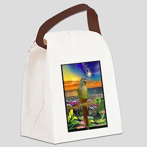 Green Cheeked Conure Star Gazer Canvas Lunch Bag