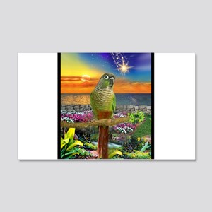 Green Cheeked Conure Star Gazer Wall Decal
