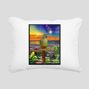 Green Cheeked Conure Star Gazer Rectangular Canvas