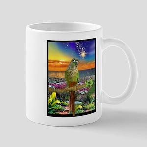 Green Cheeked Conure Star Gazer Mugs