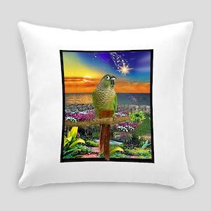 Green Cheeked Conure Star Gazer Everyday Pillow
