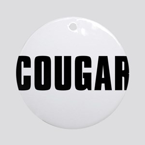 Cougar Ornament (Round)