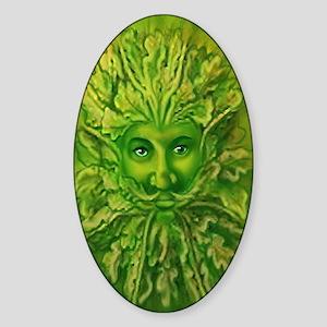 The Greenman Oval Sticker