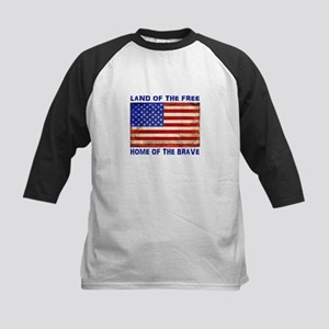 AMERICAN FLAG LAND OF FREE HOME OF Baseball Jersey