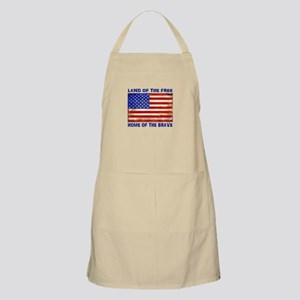 AMERICAN FLAG LAND OF FREE HOME OF BRAVE Apron