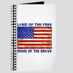 AMERICAN FLAG LAND OF FREE HOME OF BRAVE Journal