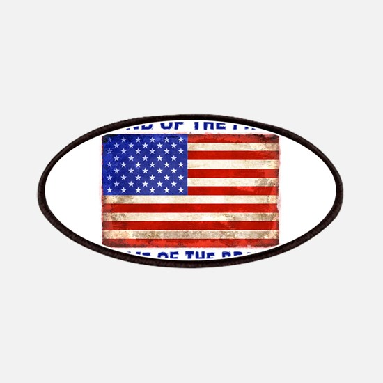 AMERICAN FLAG LAND OF FREE HOME OF BRAVE Patch