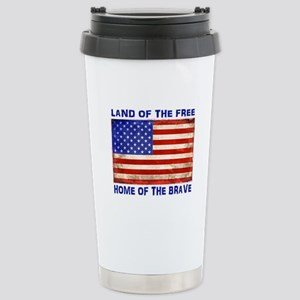 AMERICAN FLAG LAND OF F Stainless Steel Travel Mug
