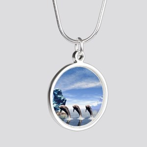 Funny dolphin Necklaces